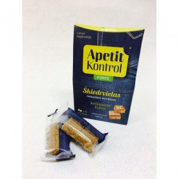 """""""Apetit-kontrol Forte"""" - košļājamie kubiki ar šķiedrvielām un vitamīnu C 60 g (12 kubiki)"""